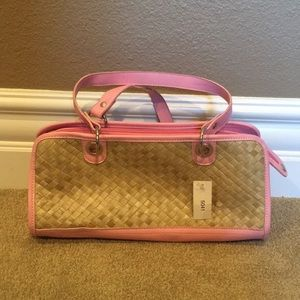 Handbags - [NEW] Pink Straw Tote